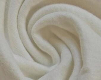 White Bamboo & Organic Cotton Fleece Fabric by the Yard