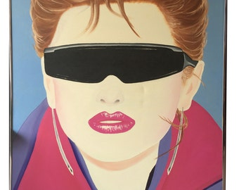 "Original Oil Painting - 80's pop art 40""X30"""