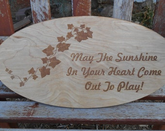 Laser Engraved/Etched Wood Sign or Plaque  Wedding,birthday,anniversary gift
