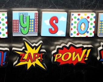 Super Hero Boys Name Magnets Fridge Bedroom Magnets NM0012