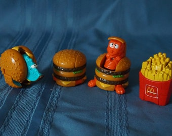 Your Choice! of McDonalds Toys 1990 Dino Changeables McRobots Transformers Food to Dinosaurs! vintage Happy Meal toys