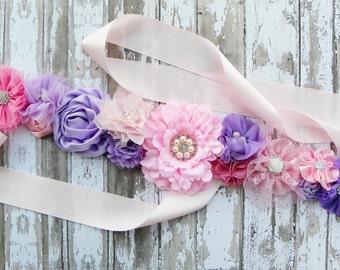Pink Maternity Sash, Pink Lavender Sash, Lavender Maternity Sash, Baby Shower Sash, Gender Reveal Party, Maternity Photos, Its a Girl