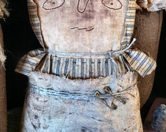 Stella Stump EPATTERN-primitive country cloth doll craft digital download sewing pattern - PDF-1.99