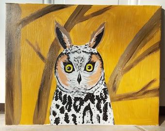 Long Earred Owl Print