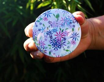 Floral Pocket Mirror