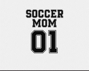 soccer mom 01 sports dxf file instant download silhouette cameo cricut clip art commercial use