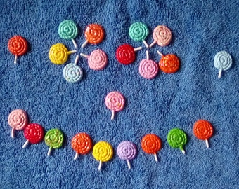 8,12 or 16pc. Lollipop Polymer Clay-Halloween,Small Flatback Lollipop,Charms,Candy,Jewelry,Earrings,Necklace,Free Gift-Free Shipping.