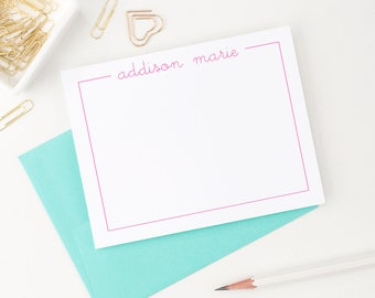 Personalized stationery set // Personalized stationery for girls  // personalized stationary // Thank you cards // Kids stationery, KS015