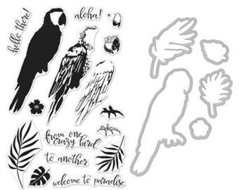 Hero Arts Color Layering Parrot  Bundle - Stamps - Dies