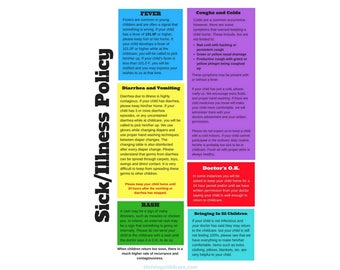 POSTER:  Childcare Sick & Illness Policy