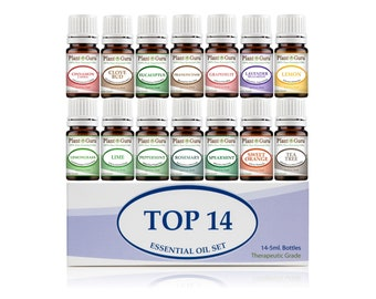 Top 14 Essential Oil Set Kit Variety 100% Pure Therapeutic Grade 5 ml.