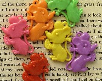 Kitschy Mice Charms (10) Colorful Kawaii K083