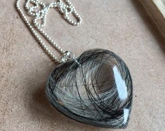 Bespoke Pet Fur Heart Pendant (using your own pets hair)