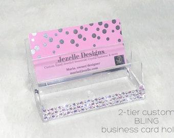 Unicorn bling pop sockets swarovski crystal cell phone swarovski business card holder custom hand jeweled acrylic clear business card holder with genuine swarovski colourmoves