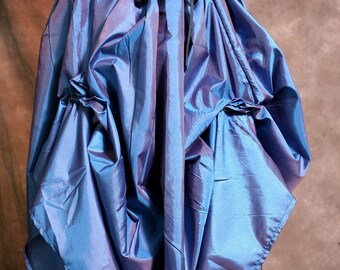 Blue-Violet Drawstring Skirt One Size Fits All