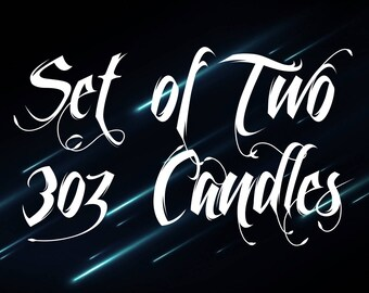 Set of two 3 oz Candles