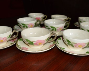 Franciscan Desert Rose Coffee Cups - Set of 9