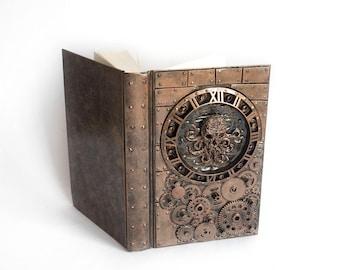 Steampunk Skull Cthulhu cyberpunk notebook gift