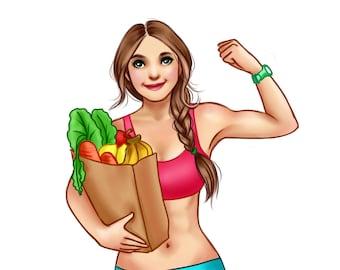 Fitness Character Illustration