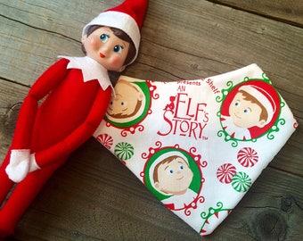 Elf bib, elf baby bib, elf on the shelf bib, Christmas baby bib