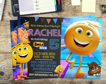 Emoji Movie Invite Invitation Birthday Party