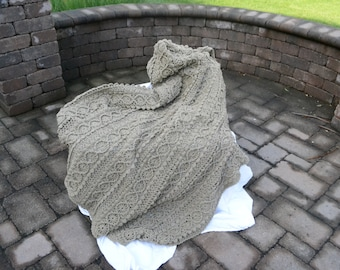 Crocheted afghan, Handmade, Crocheted blanket, Adult blanket, Ready to ship