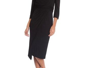 1950s Vintage Ceil Chapman Black Pleated Evening Dress   Size: XS/S