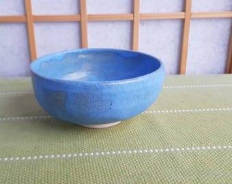 Light blue chawan, tea bowl for the Japanese tea ceremony