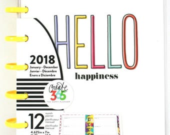 Create 365 12 Month Mini Happy Planner / 2018 Planner / Me and My Big Ideas 2018 Planner / 2018 Bullet Journal / 2018 Mini Happy Planner