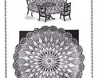 Crochet Tablecloth Pineapple & Spiderweb Cloth Vintage Mail Order Pattern PDF