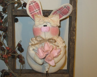 Bunny Decoration, Bunny Bowl Filler, Bunny Tuck, Bunny With Tulips, Easter Decoration, Spring Decoration, Easter Bunny, Bunny Decor, FAAP