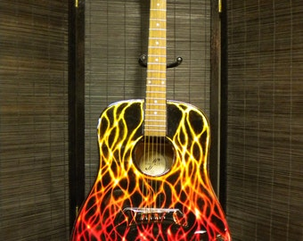 ZAPS hand painted acoustic guitar.