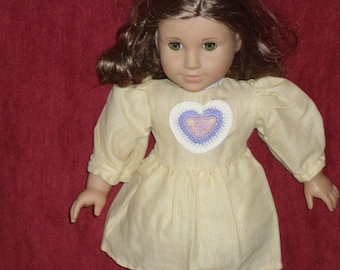 cute yellow dress to fit American Girl or any 18 inch doll