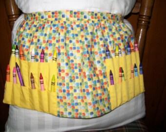 Child's crayon apron