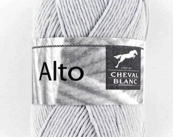100% cotton crochet yarn wool knitting Viola color gray No. 140 ° N white horse 071