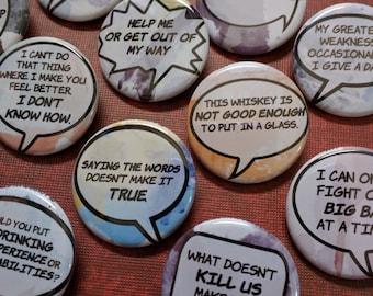 "Jessica Jones buttons 1.25"" / 32mm pin back button/badge"