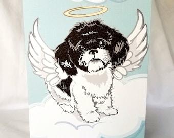 Angel Shih Tzu Greeting Card