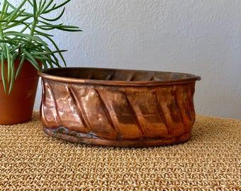 Oval Copper Planter
