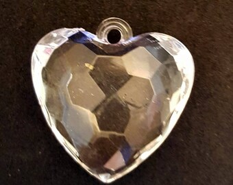 Acrylic Pendent ~CHUNKY HEART--Various QTY Available 4, 10, 25