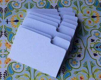 Mini File Folders, Envelope Inserts, Scrapbook Embellishments, Miniature Office File Folders, White- pack of 10