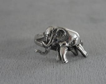 Elephant Ring Mover Sterling Silver Articulated Vintage