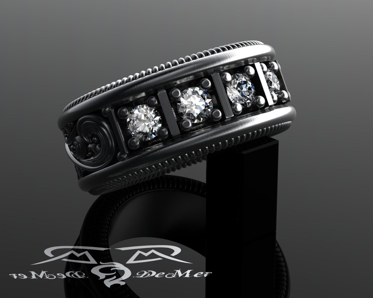 zoom - Mens Wedding Rings Platinum
