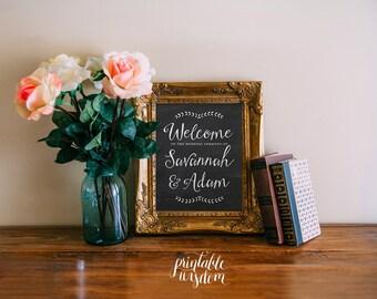 Wedding sign printable chalkboard customized wedding poster wedding decor print art DIY wedding welcome Printable Wisdom, wedding decoration