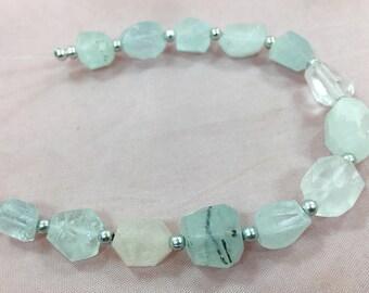 1 Strand Aquamarine Beaded Necklace @JSK