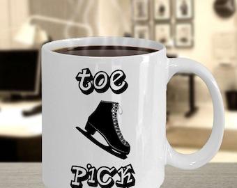 Figure Skating Toe Pick Novelty Coffee Mug - Great Gift Idea For Figure and Ice Skaters Alike