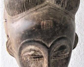 Beautiful Baule mask from Ivory Coast.
