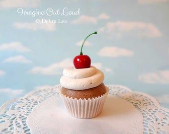 Fake Cupcake Retro Cherry Vanilla Chocolate Party Favor Decoration Decor