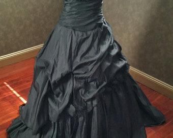Black Wedding Dress with Halter Strap from Award Winning Bridal Salon in New Jersey