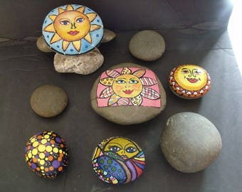 Beach Stones, Rocks, for Painting Mandala, Etching, Carin Sculptures, Bare Rocks for Art