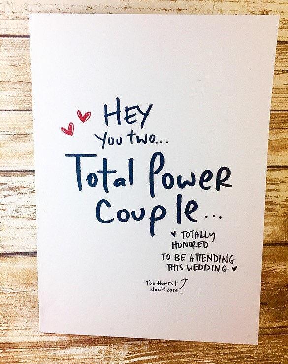 total power couple wedding card power couple congrats on